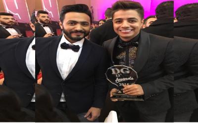 إيهاب أمير يتوج بجائزة أفضل فنان صاعد بمصر +فيديو