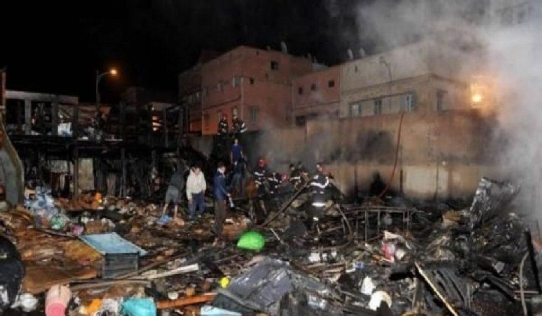 حريق مهول بقسارية الحي المحمدي