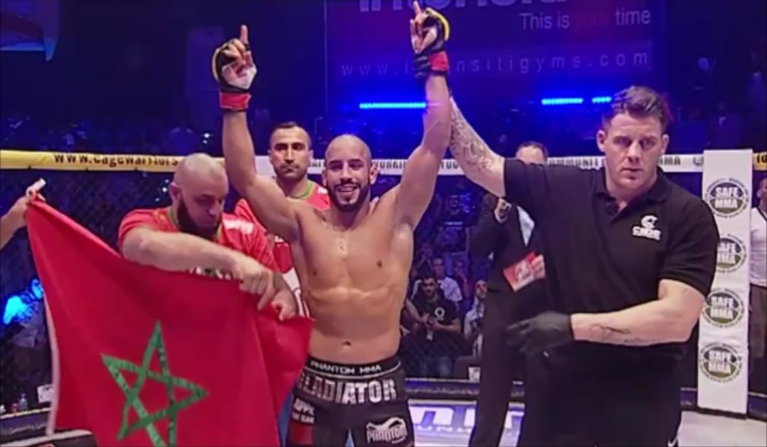 الملاكم أبو زعيتر والنشيد الوطني المغربي