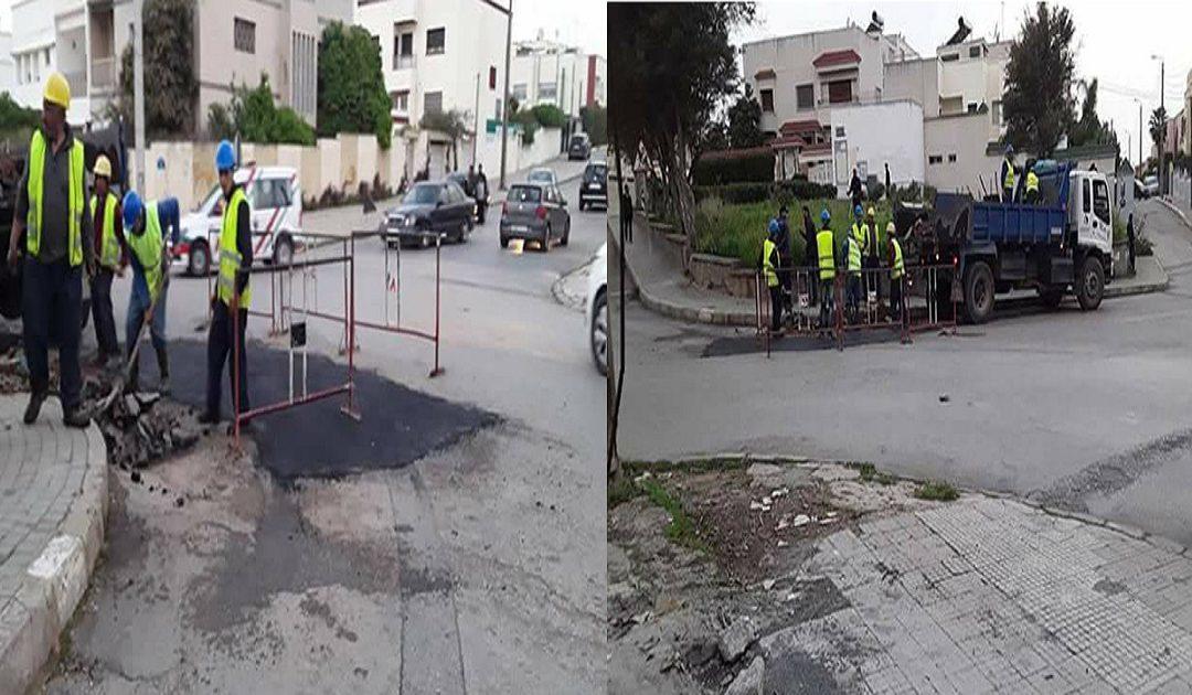 أشغال وترتيبات أمام منزل سعد الدين العثماني +فيديو وصور