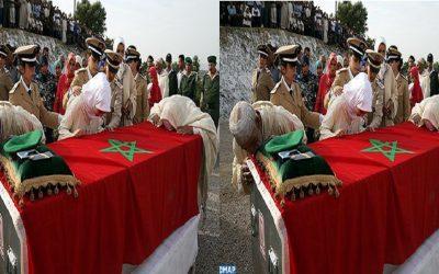 تشييع جنازة الجندي المغربي الذي قتل في هجوم إفريقيا الوسطى
