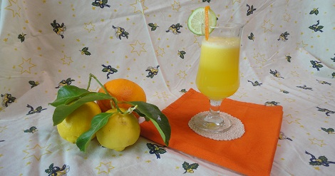 عصير البرتقال و الحامض