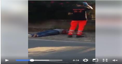 بالفيديو…تعرض 10 مهاجرين سريين مغاربةلحادث سير خطير بإيطاليا