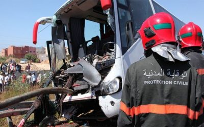 حادثة سير  تودي بحياة  5 أشخاص و إصابة 11 بجروح خطيرة