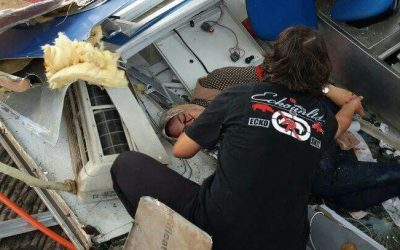 حادث خطير و ارتباك  بمحطة تيط مليل +صور