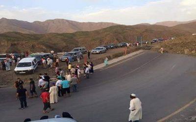 إنهيار جبل بمنطقة تيشكا بين ورزازات ومراكش