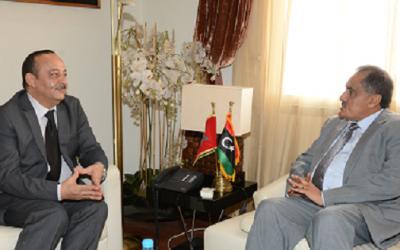 محمد الأعرج يستقبل السفير الليبي بالمغرب