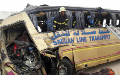 36 جريحا في إصطدام حافلة فريق مغربي بحافلة للمسافرين