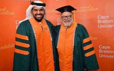 حسين الجسمي و يحيى الفخراني يحصلان على الدكتوراه الفخرية