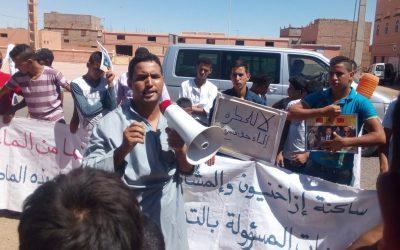 """ابتدائية زاكورة تؤجل النطق بالحكم في حق نشطاء """"المطالبة بالمياه"""""""