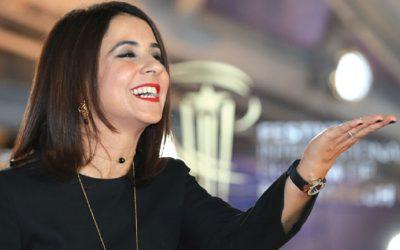 الممثلة سامية أقريو تحتفل بعيد ميلادها