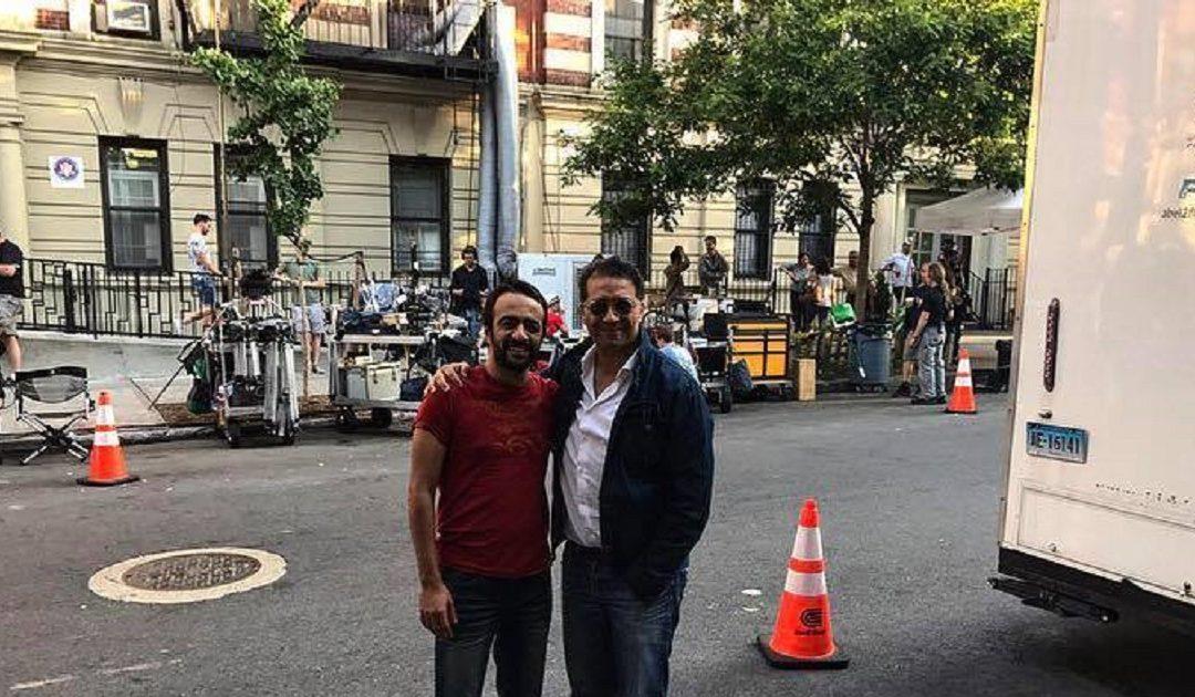 نور الدين الخماري يلتقي بفهد بنشمسي في بلاطو تصوير فيلم أمريكي