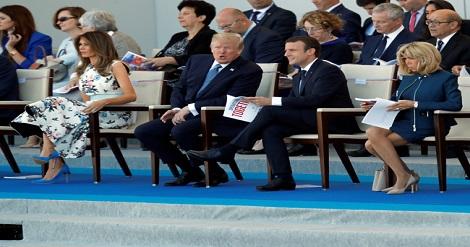 ترامب يحضر الى جانب ماكرون إحتفالات اليوم الوطني الفرنسي