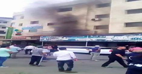 حريق  يشب بمحل تجاري بسلا +فيديو