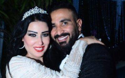 سمية خشاب تشكر كل من بارك لها الزواج من أحمد سعد