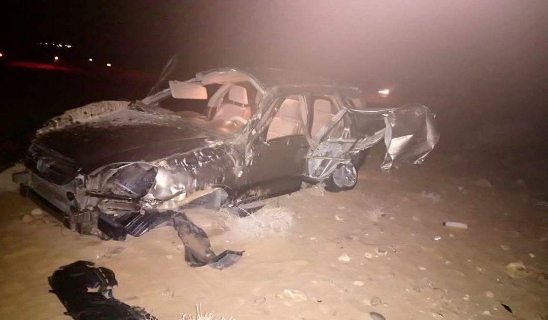 مصرع شخص وإصابة آخرين في حادثة سير خطيرة