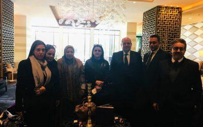 السفير المصري بالمغرب يستقبل الوفد المشارك في مؤتمر القانون بالرباط