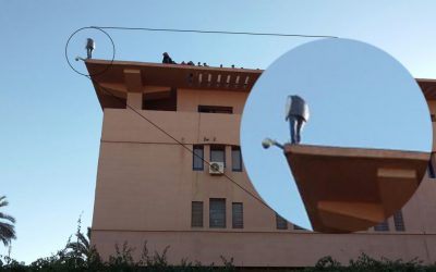 إستنفار أمني بعد تهديد شرطي بالانتحار من فوق مقر ولاية امن مراكش +صور وفيديو