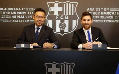 بداية مفاوضات تجديد عقد ميسي مع فريقه برشلونة