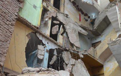 انهيار مبنى من 4 طوابق بسبب التساقطات المطرية بفاس