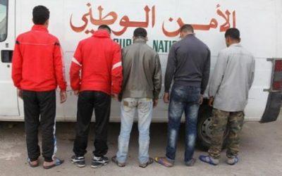 توقيف 5 أشخاص متورطين في اقتراف عمليات السرقة الموصوفة