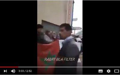 لص يسرق هاتف أحد المتضاهرين أثناء تصويره وقفة احتجاجية بالرباط