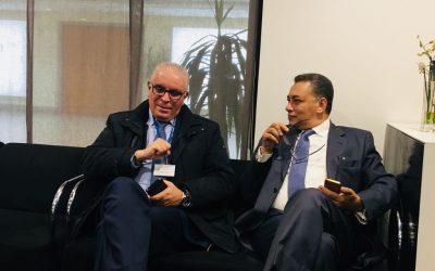 سفير مصر بالمغرب يستقبل وزيرة الثقافة والوفد المشارك في معرض الكتاب بالدار البيضاء