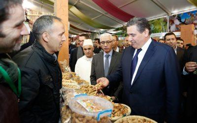 أخنوش يفتتح معرض المنتجات المحلية المنظم في إطار الدورة 8 لمهرجان اللوز بتافراوت
