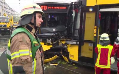 """إصابة 43 شخصا في اصطدام قطاري """"ترام"""" بألمانيا"""