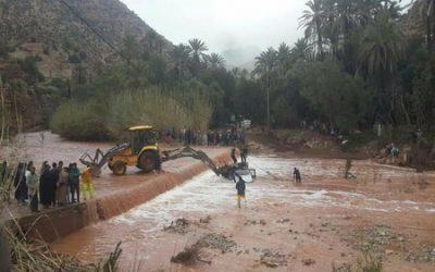 إنقاذ 5 أشخاص كانوا محاصرين بمياه واد الحضر بإقليم تازة