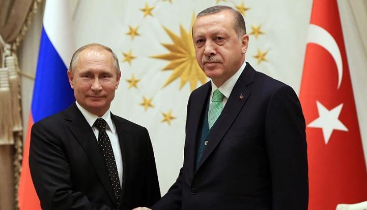 اردوغان وبوتين يتدارسان الضربة العسكرية ضد النظام السوري