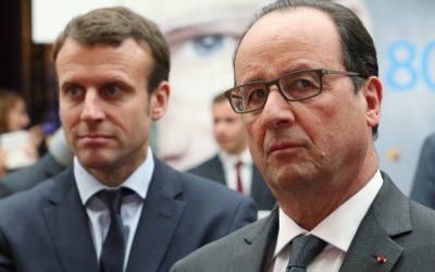"""هولاند ينتقد تصرفات ماكرون ويذكره بـ""""إعدام ملك فرنسا"""""""
