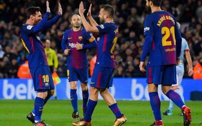 فريق برشلونة يفوز بكأس ملك إسبانيا