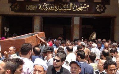 تشييع جثمان الراحلة مديحة يسري وسط حضور كبير لنجوم الفن المصري