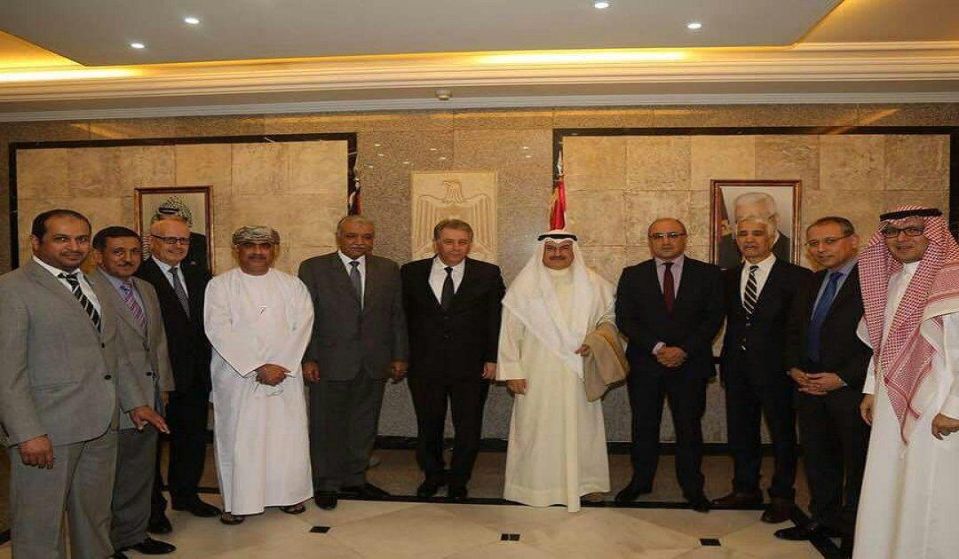 السفراء العرب في زيارة تضامينة لسفارة دولة فلسطين بلبنان