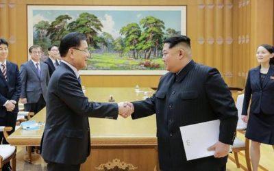 لقاء بين زعيمي الكوريتين تمهيدا للقاء محتمل بين كيم وترامب