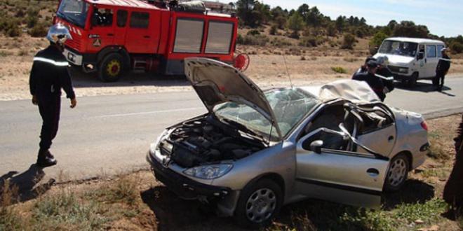 اصطدام سيارة بأخرى تابعة للأمن الوطني بمراكش