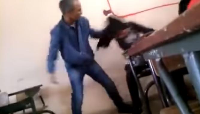 أستاذ يعتدي على تلميذة بالفصل وينعتها بأقبح الصفات