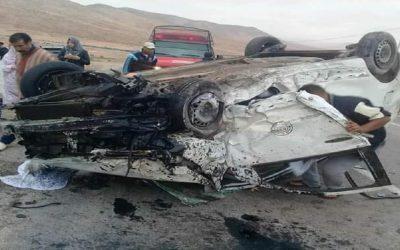 حادث خطير لسيارة بها ستة مسافرين بين الطانطان وكلميم