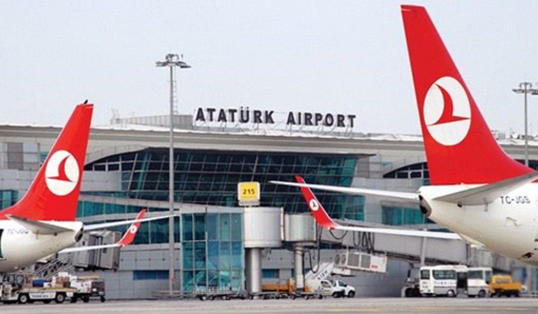 طائرة مغربية تصطدم بطائرة تركية في مطار أتاتورك