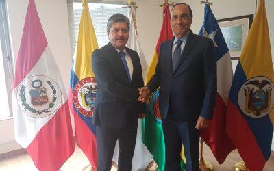 الحبيب المالكي يعقد جلسة عمل مع رئيس برلمان الأنديز