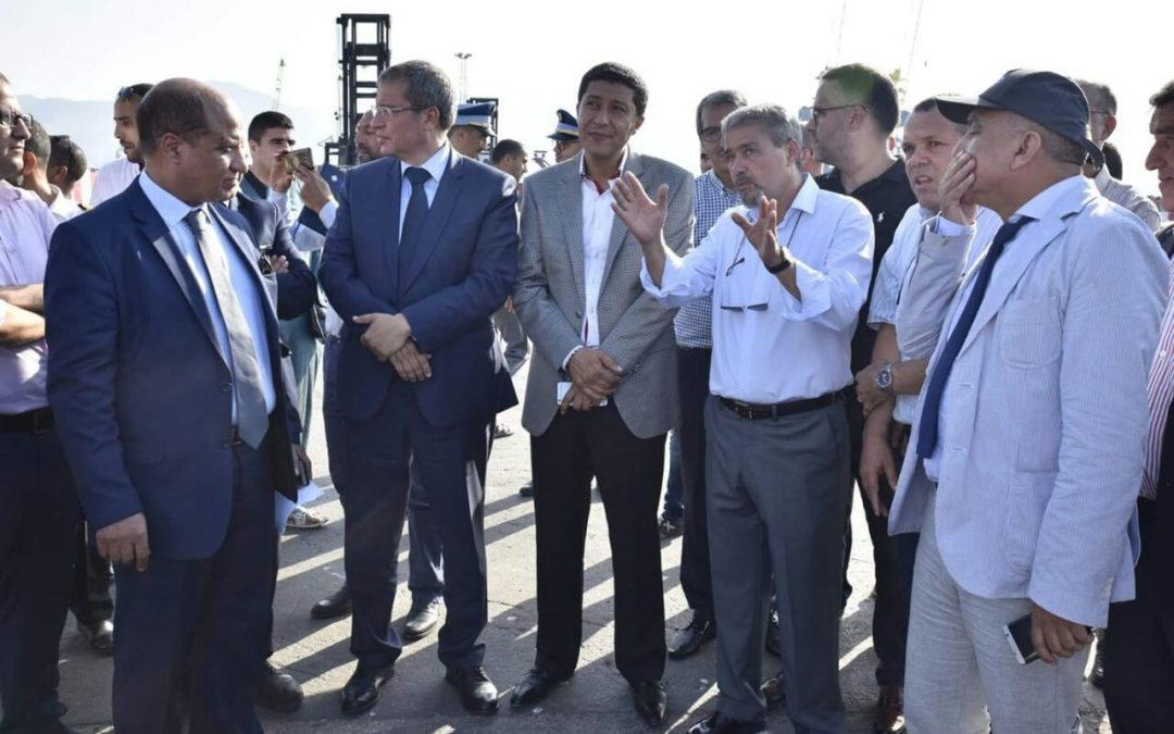 بالصور.. جهة الشرق تستقبل أول باخرة للحاويات بالميناء التجاري ببني أنصار