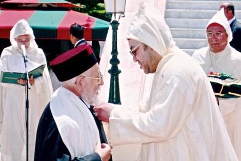 الملك محمد السادس يُعــزي أسرة الحاخام الأكبر للطائفة اليهودية بالمغرب