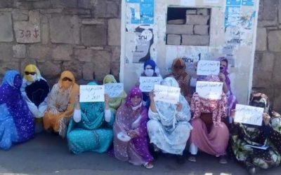 طالبات صحراويات تفترشن الأرض احتجاجا على طردهم من الحي الجامعي بالرباط