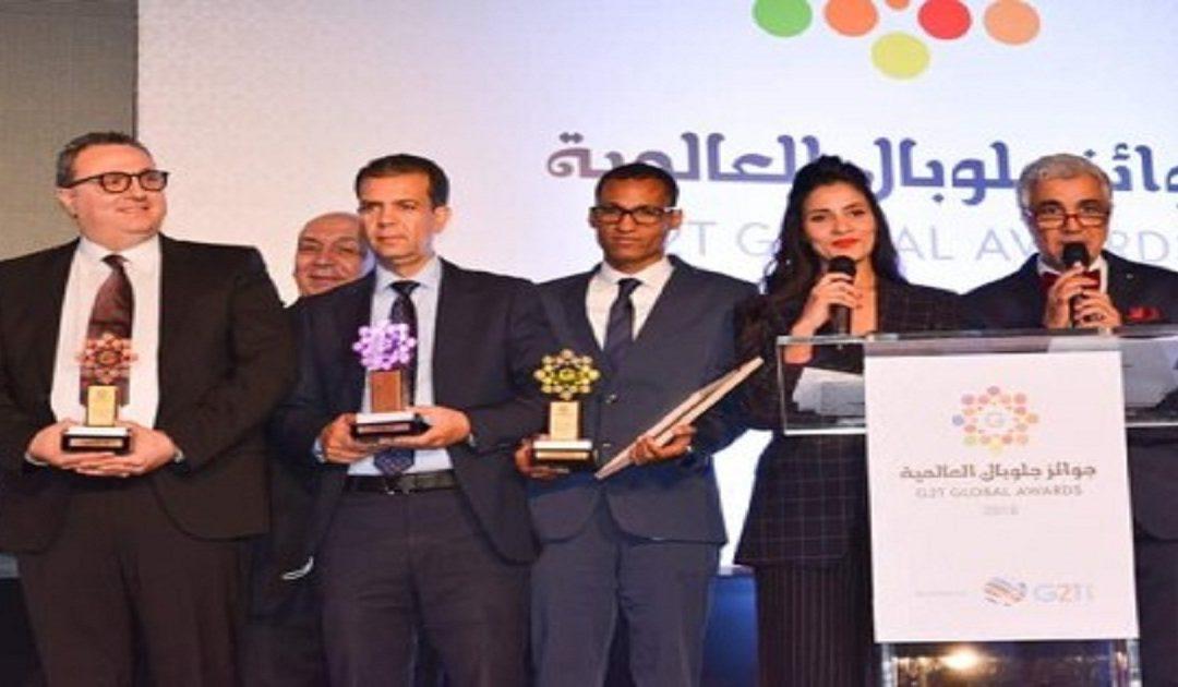 تتويج مصطفى أمدجار بجائزة التميز المهني العربي