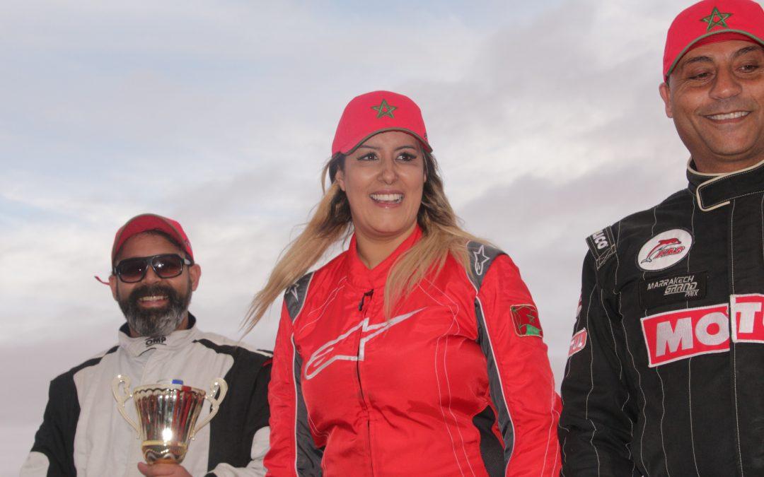 البطلة هند اباتراب تفوز على الرجال في سباق كأس العرش للسيارات بالعيون للمرة الثالثة على التوالي