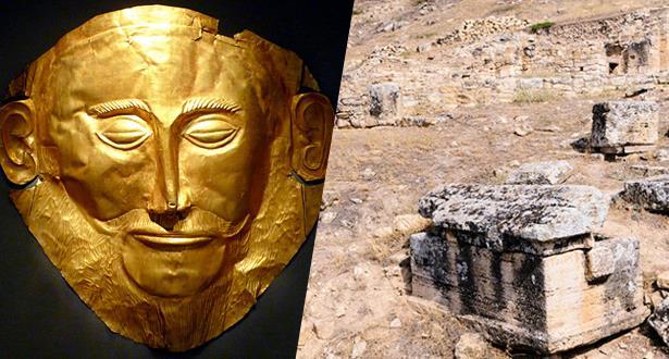 """عرض قناع """"الوجه ذهبي"""" يرجع إلى نحو 1600 عام قبل الميلاد"""
