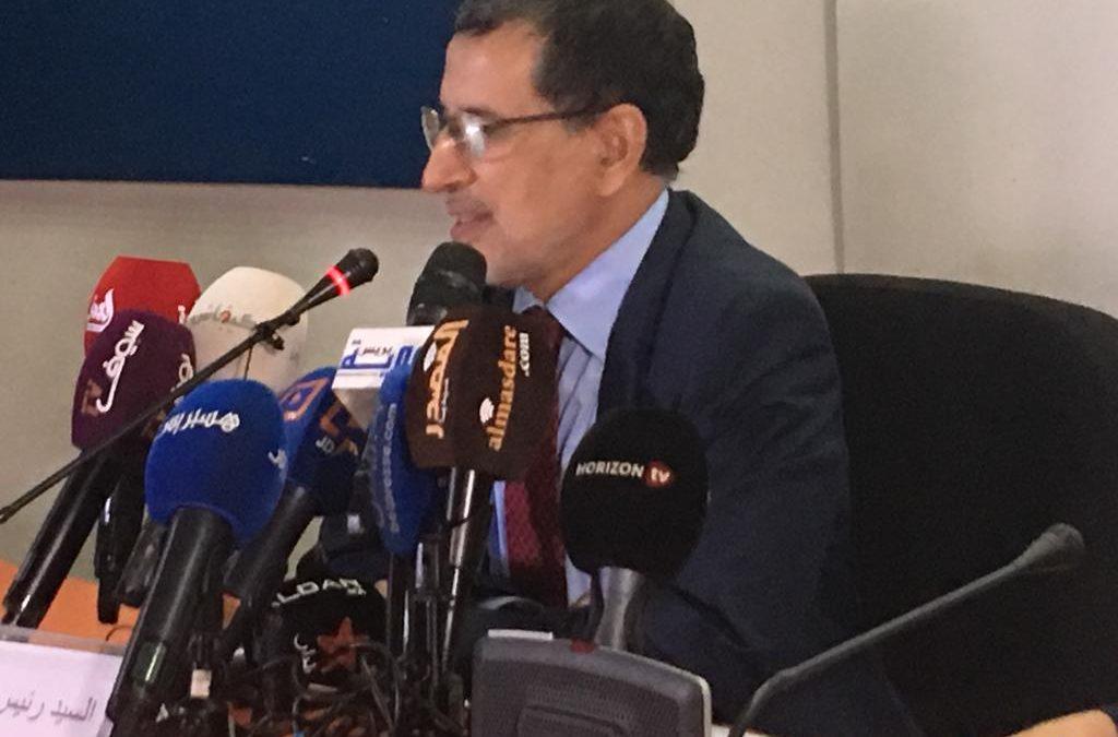 """العثماني: """"من واجب الحكومة أن تنصت لانتقادات الصحافيين والمواطنين"""""""