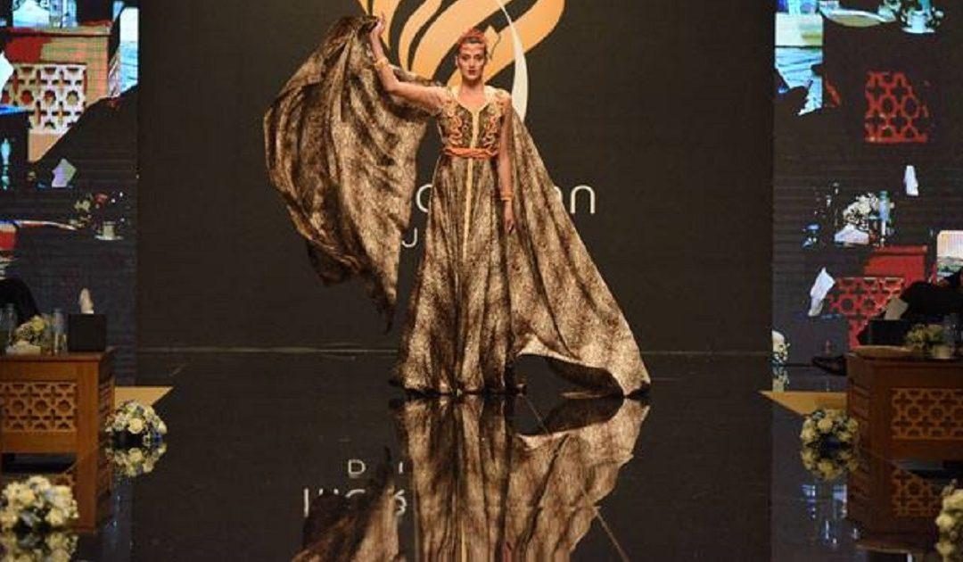 فاطمة الزهراء بوجيكي تقدم أفخم تصاميم القفطان في دبي + صور