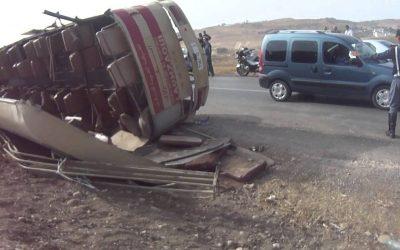 مصرع ستيني و إصابة أربعة آخرين في حادث إنقلاب سيارة للنقل المزدوج ضواحي مراكش
